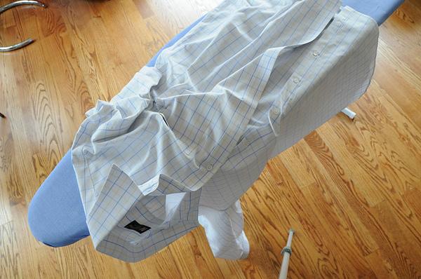 wrinkled shirts